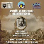 Akut Başkanı Mahruki Turgutlu'da konferans verecek