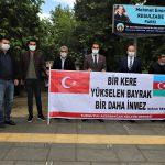 Mehmet Emin Resulzade Parkında düzenlenen basın açıklamasına katıldık.