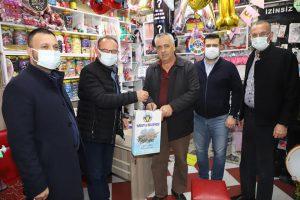 Başkan Çetin Akın kasaba medya gazetesini ziyaret etti